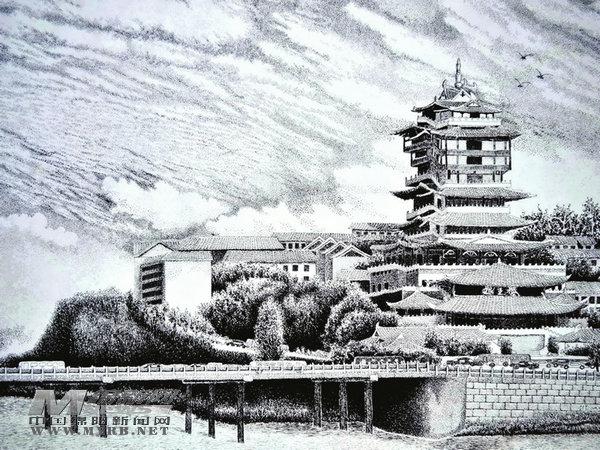 邓勇:一支钢笔画出绵州秀美山河
